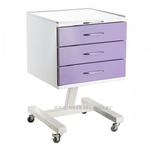 Столик стоматолога-ортопеда СИПС-М металлический  с 3 ящиками