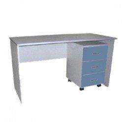 Стол с подкатной тумбой для мед кабинетов СК-1-08