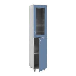 Шкаф пенал для документов со стеклом МШД-2-1