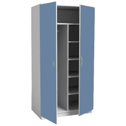 Шкаф для одежды больничный ШО 2/03 с полками