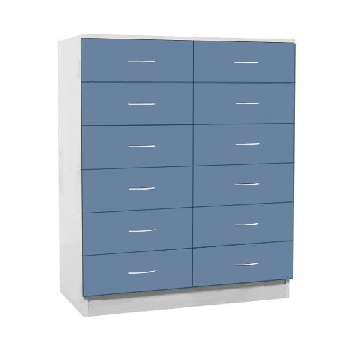Шкаф картотечный медицинский ШК 2/02  с 12 ящиками