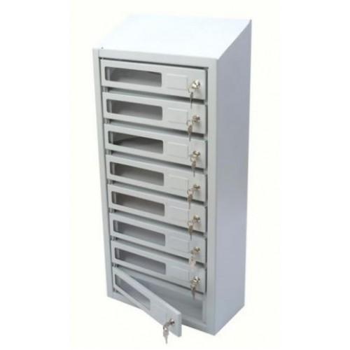 Почтовый ящик с окошком для многоквартирных домов от 3х до 10 секций