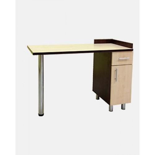 Стол для маникюрного кабинета МС-3 с бортиком
