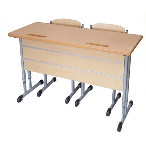 Двухместный стол со стулом школьный Ф-2-В2