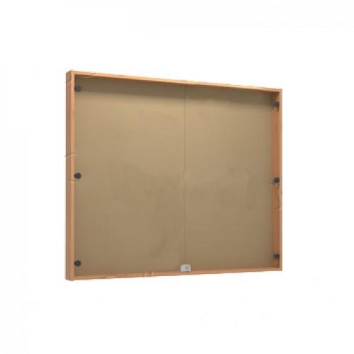 Информационная доска со стеклянными дверками и замком КВ-1210