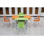 Стол школьный трапеция со стулом на роликах Ф1-4