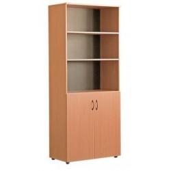 Шкаф для документов полуоткрытый двухдверный
