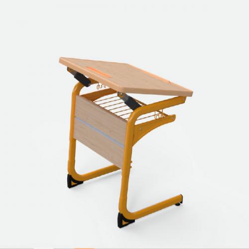 Стол ученический Ф-СОН25 с наклоняемой столешницей одноместный