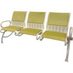 Секция стульев для зон ожидания СС-439.01 перфорированная с мягкими накладками