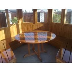 Стол деревянный для беседки круглый м500