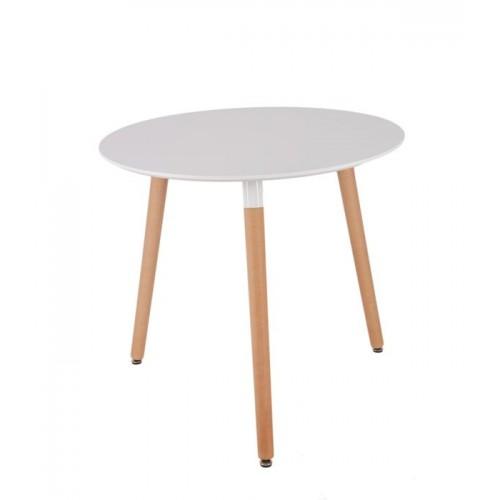 Стол кофейный с деревянными ножками T50