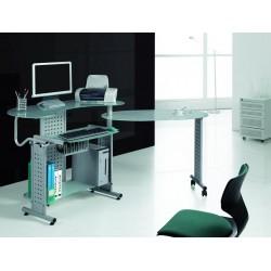 Стол стеклянный компьютерный ССК-5 раздвижной