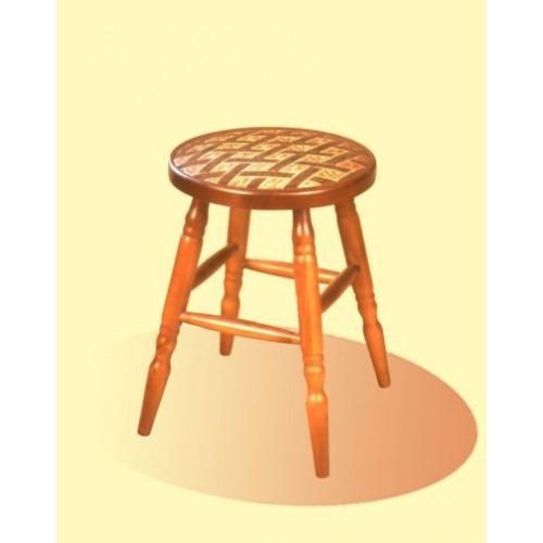 Табурет деревянный  ДС-8423 мягкий
