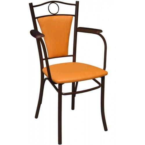 Классический стул с мягкой спинкой и подлокотниками М40-041
