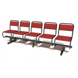 Секция стульев пятиместная СС-430.06 сварная с мягкими сидениями
