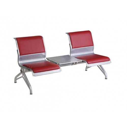 Секция стульев YH-3/2 с мягкими накладками и перфорированным столиком
