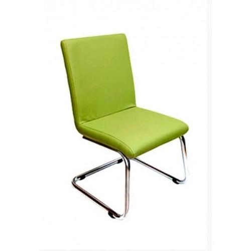 Офисный стул на полозьях ЛАЙМ хром