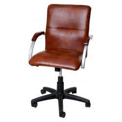 Офисный стул Самба газлифт с деревянными подлокотниками