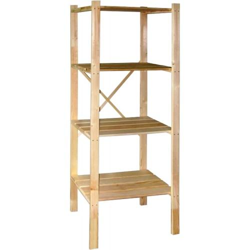 Стеллаж-этажерка М191.60 деревянная с усилением