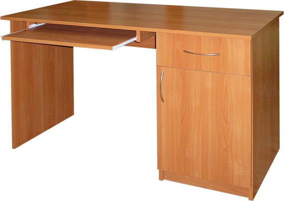 Компьютерный стол с выдвижным столиком.